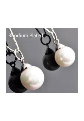 www.sayila.fr - Pendentif en 925 argent avec perle en nacre 23x12mm (trou 5mm)
