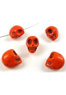www.sayila.com - Natural stone beads Turquoise Howlite skull 18x17mm - E00983
