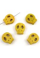 www.sayila.com - Natural stone beads Turquoise Howlite skull flat 15x13mm - E01007
