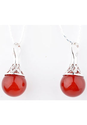 www.sayila.com - 925 Silver pendant with natural stone Red Agate 27x12mm (hole 5mm)