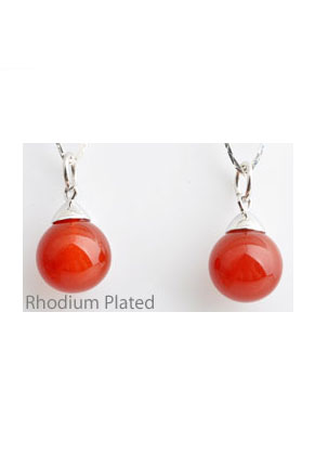 www.sayila.com - 925 Silver pendant with natural stone Red Agate 23x12mm (hole 5mm)