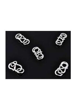 www.sayila-perlen.de - 925er Silber Hakenverschluß mit 2 Ringen 16x6mm