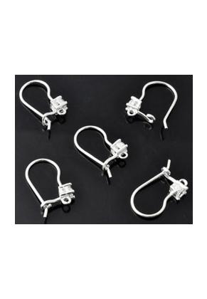 www.sayila.com - 925 Silver ear wires with zirconia 16x9mm