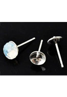 www.sayila.com - 925 Silver ear studs with pin 13x6mm (pin ± 0,8mm thick) - E01188