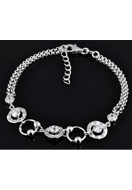 www.sayila.co.uk - 925 Silver bracelet with cubic zirconia 16,5-19cm - E01213