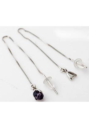 www.sayila.es - Hilo de orejas/pendientes de 925 plata 10cm con enganche 8x4mm