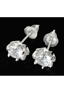www.sayila.co.uk - 925 Silver ear studs flower with zirconia 15x7mm - E01239