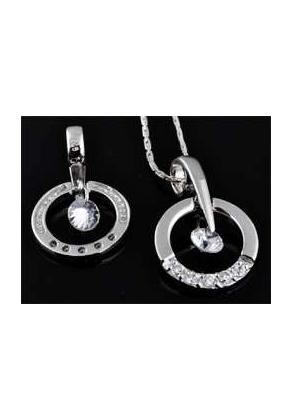 www.sayila.com - 925 Silver pendant with  zirconia, round 24x15mm