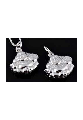 www.sayila.com - 925 Silver pendant Buddha 21x16mm
