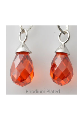 www.sayila.com - Zirconia pendant drop with 925 silver eye 22x9mm