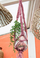 www.sayila-perles.be - Hoooked kit de macramé DIY Panier suspendu Jute - E01301