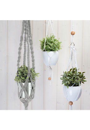 www.sayila.fr - Hoooked kit de macramé DIY Suspension à plante Zpagetti