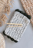www.sayila.co.uk - Hoooked DIY Crochet kit Pompom clutch Santorini - E01308