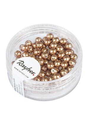 www.sayila.com - Rayher Renaissance glass pearls round 4mm (± 85 pcs.)