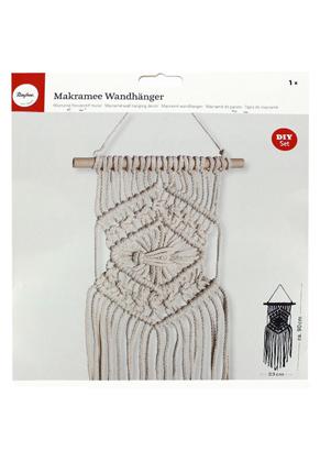 www.sayila-perlen.de - Rayher DIY Bastelpackung Makramee Wandhänger/Wandbehang