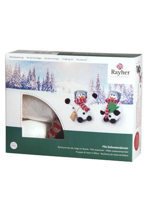 www.sayila.fr - Rayher DIY kit de bricolage bonhommes de neige en feutre