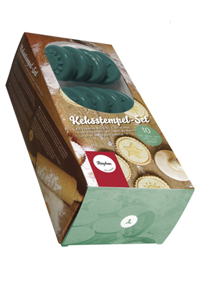 www.sayila.fr - Rayher 10 pièces kit tampons biscuits, petit