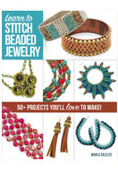 www.sayila.nl - Boek Learn to Stitch beaded jewelry (Marla Salezze) - E01367