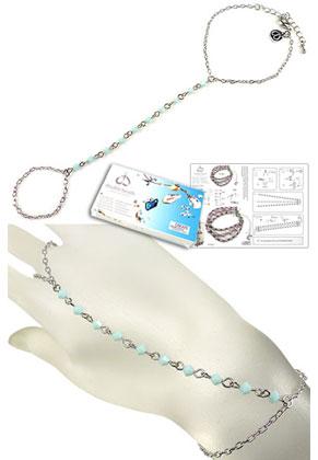 www.sayila-perlen.de - DoubleBeads Schmuckpaket Tropical Princess Handschmuck, Innermaß ± 17-23cm, mit SWAROVSKI ELEMENTS