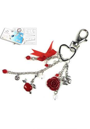 www.sayila-perlen.de - DoubleBeads Schmuckpaket Cupid's Colours Schlüsselanhänger ± 19cm mit SWAROVSKI ELEMENTS