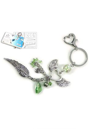www.sayila-perlen.de - DoubleBeads Schmuckpaket Lucky Angel Schlüsselanhänger ± 20cm mit SWAROVSKI ELEMENTS