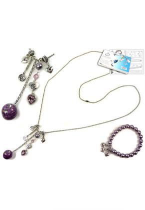 www.sayila.nl - DoubleBeads Sieradenpakket Pastel Kiss halsketting en armband met SWAROVSKI ELEMENTS