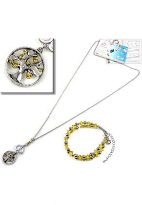 www.sayila-perlen.de - DoubleBeads Schmuckpaket Summer Tree Halskette und Armband mit SWAROVSKI ELEMENTS
