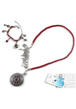 www.sayila-perlen.de - DoubleBeads Schmuckpaket Locked Secrets Halskette und Armband mit SWAROVSKI ELEMENTS