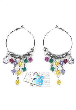 www.sayila.com - DoubleBeads Jewelry Kit Rainbow Party earrings with SWAROVSKI ELEMENTS