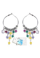 www.sayila.co.uk - DoubleBeads Jewelry Kit Rainbow Party earrings with SWAROVSKI ELEMENTS - E01439