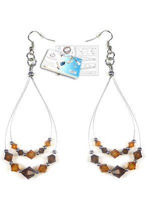 www.sayila.com - DoubleBeads Jewelry Kit LA Glamour earrings with SWAROVSKI ELEMENTS