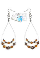 www.sayila.co.uk - DoubleBeads Jewelry Kit LA Glamour earrings with SWAROVSKI ELEMENTS - E01443