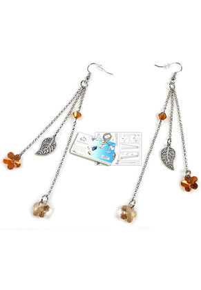 www.sayila.co.uk - DoubleBeads Jewelry Kit Golden Blossom earrings ± 12cm with SWAROVSKI ELEMENTS