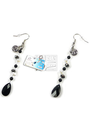 www.sayila.co.uk - DoubleBeads Jewelry Kit Crystal Drop earrings ± 9cm with SWAROVSKI ELEMENTS