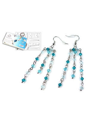 www.sayila.com - DoubleBeads Jewelry Kit Tropical earrings ± 7cm with SWAROVSKI ELEMENTS