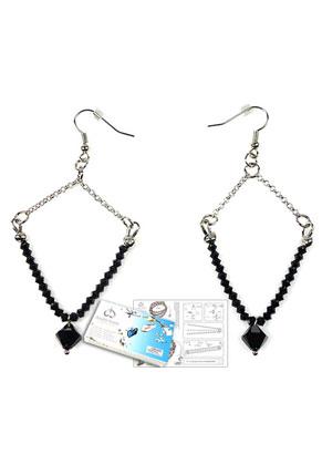 www.sayila.es - DoubleBeads Kit de Joyería Empress pendientes ± 9cm con SWAROVSKI ELEMENTS