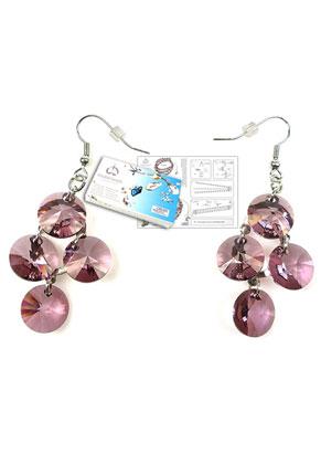 www.sayila.com - DoubleBeads Jewelry Kit Galaxy earrings ± 6cm with SWAROVSKI ELEMENTS