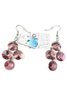 www.sayila.com - DoubleBeads Jewelry Kit Galaxy earrings ± 6cm with SWAROVSKI ELEMENTS - E01468