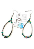 www.sayila.com - DoubleBeads Jewelry Kit Futuristic earrings ± 7cm with SWAROVSKI ELEMENTS - E01469