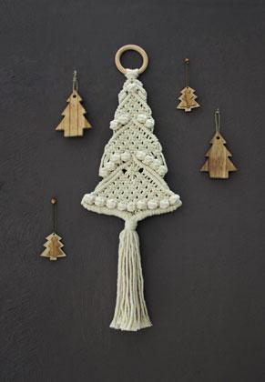 www.sayila.nl - Hoooked DIY macramé pakket Wandhanger Kerstboom