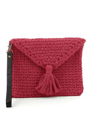 www.sayila.com - Hoooked DIY crochet kit Knit Look clutch RibbonXL