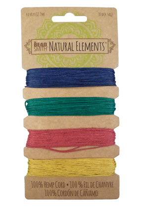 www.sayila-perlen.de - Beadsmith Natural Elements Mix Hanffaden 0,55mm (4 x 40 ft/ 12,2 Meter)