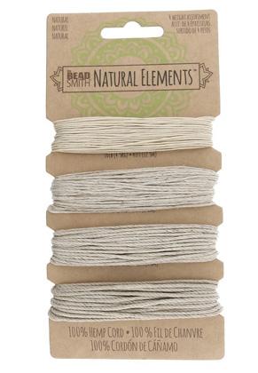 www.sayila-perlen.de - Beadsmith Natural Elements Mix Hanffaden 0,55-1,5mm (4 x 15-41 ft/ 4,6-12,5 Meter)