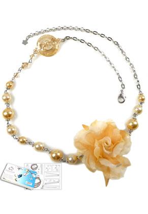 www.sayila.com - DoubleBeads Jewelry Kit Royal Flower necklace ± 58-64cm with SWAROVSKI ELEMENTS