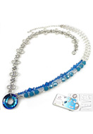 www.sayila-perles.be - DoubleBeads Kit de Bijoux Carribean Chique collier ± 56-63cm avec SWAROVSKI ELEMENTS - E01549