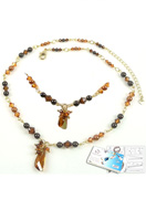 www.sayila.com - DoubleBeads Jewelry Kit Golden Storm necklace ± 50-57cm with SWAROVSKI ELEMENTS - E01552