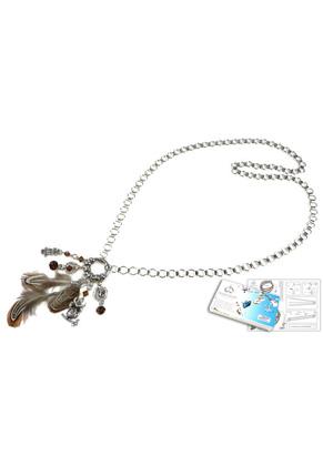 www.sayila.com - DoubleBeads Jewelry Kit Mystic Forest Owl necklace ± 85cm, with SWAROVSKI ELEMENTS