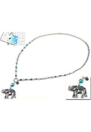 www.sayila.com - DoubleBeads Jewelry Kit Oriental Elephant necklace ± 75cm with SWAROVSKI ELEMENTS