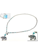 www.sayila.com - DoubleBeads Jewelry Kit Oriental Elephant necklace ± 75cm with SWAROVSKI ELEMENTS - E01562