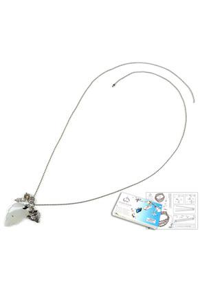 www.sayila-perlen.de - DoubleBeads Schmuckpaket Leaves Halskette ± 80cm, mit SWAROVSKI ELEMENTS